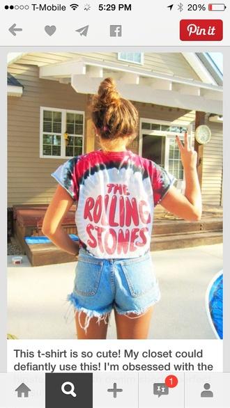 rolling stones t shirt tie dye concert concert tee the rolling stones