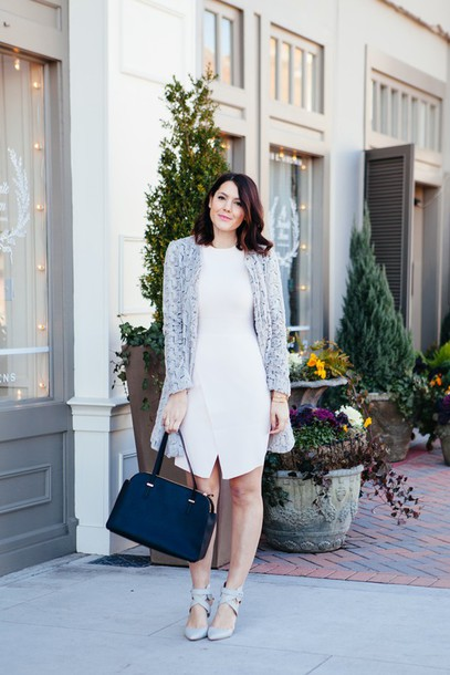 kendi everyday blogger jacket bag white dress