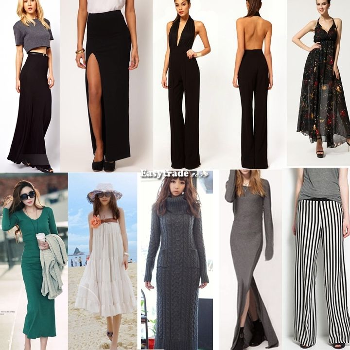 FOLD OVER WAIST BANDED MINIMALIST JERSEY KNIT LONG MAXI SKIRT Thigh Split Pants | eBay