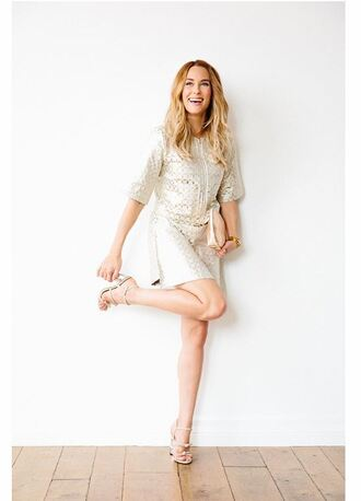 dress sandals lauren conrad blogger silver