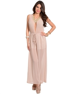 Taupe romper · maheen · online store powered by storenvy