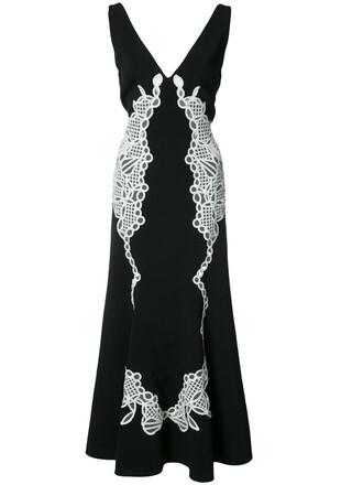 gown women lace black dress