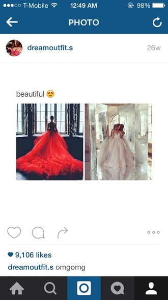 dress ball gown dress prom dress train dress red white red prom dress gown