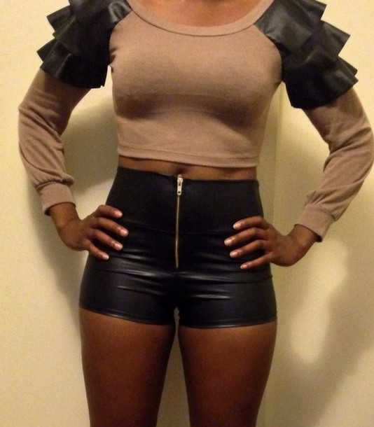 top undefined fashion tops crop tops sexy top ruffled top shorts long sleeve top cotton customized