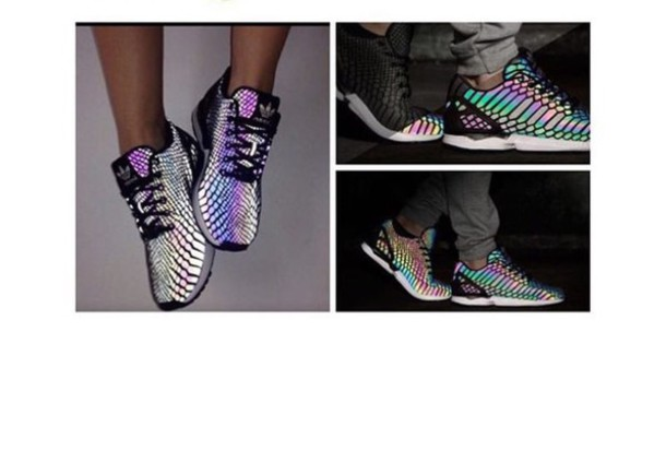 adidas glow in the dark shoes rainbow