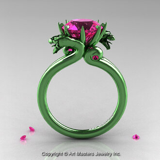 jewels green gold pink sapphire military dragon engagement ring sapphires gold engagement ring dragon ring hipster wedding hipster fine jewelery
