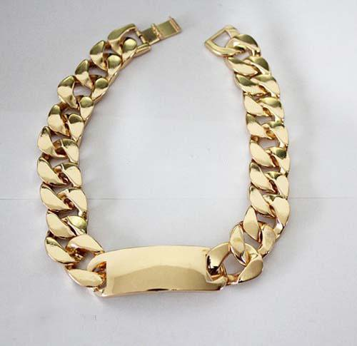 Chunky Gold I D Necklace | eBay