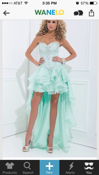 dress light teal dress tony bowls