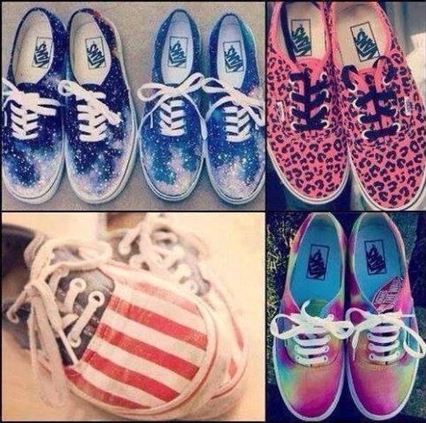 shoes vans galaxy print american flag leopard print vans