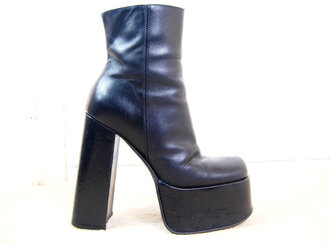 shoes size 38 leather rave platform shoes boots buffalo 90s style