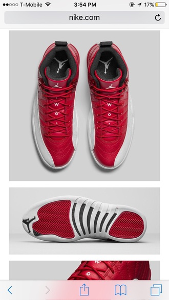 shoes jordans red white