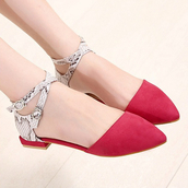shoes,blue,red,snake skin,flat heel,point toe,suede