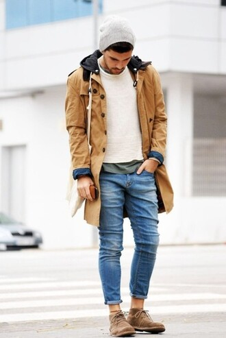mens coat mens shoes mens jeans coat jeans jacket class parka menswear mens jacket winter jacket hipster menswear mens parka hipster vintage hat pants tan raincoat mens derby shoes