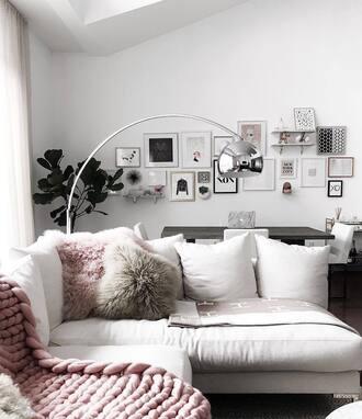 home accessory sofa tumblr home decor pillow lamp metallic lamp living room