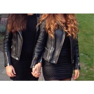 jacket black leather jacket love