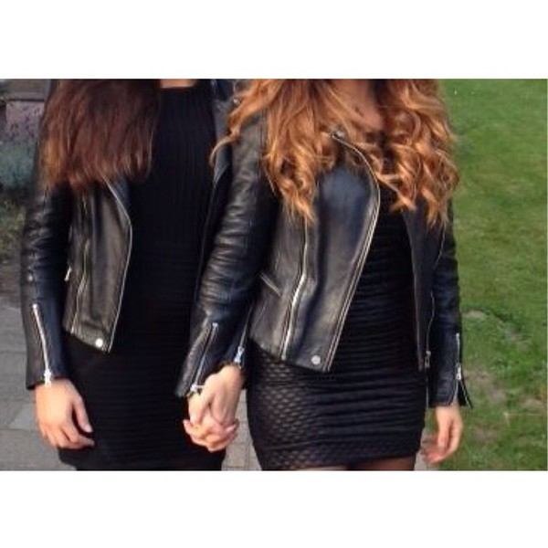 jacket black leather jacket love