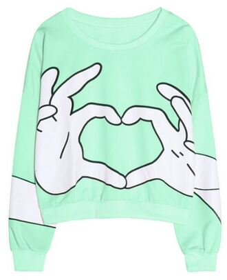 sweater mint heart fashion fall outfits trendy winter outfits long sleeves cool stylish cute casual heart sweater