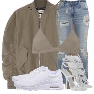 shoes white nike hot fashion