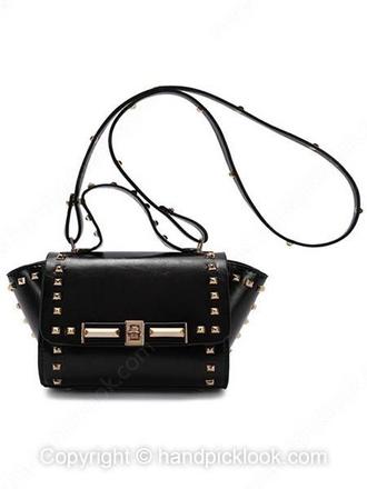 bag black bag shoulder bag pu bag