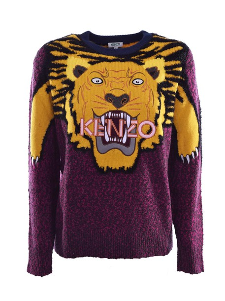 Kenzo sweatshirt embroidered tiger multicolor sweater