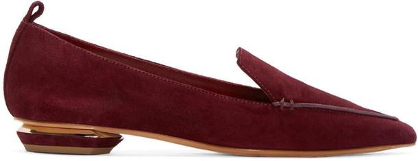 Nicholas Kirkwood loafers suede purple shoes