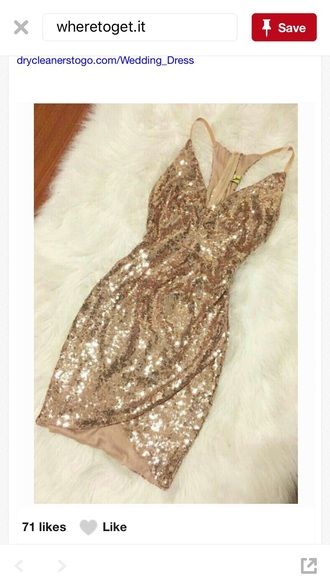 dress gold sequins bodycon