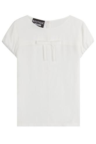 top bow silk white