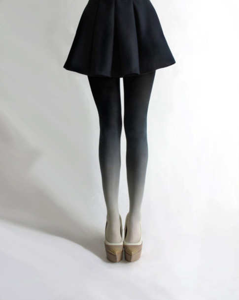 ombre tights coal grey underwear