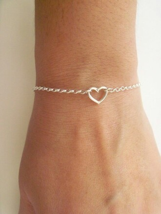 jewels braclet heart accessories armband love cute minimalist jewelry valentines day gift idea