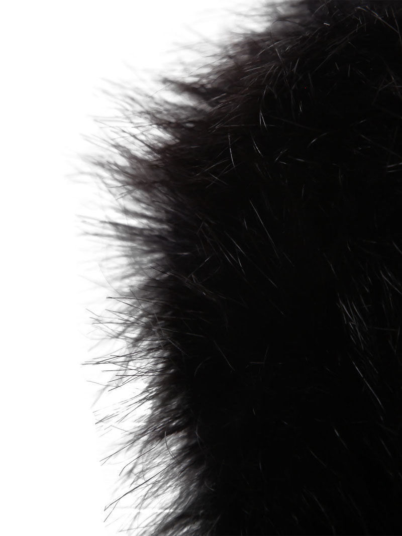 Black Sleeveless Fox Fur Vest - Sheinside.com