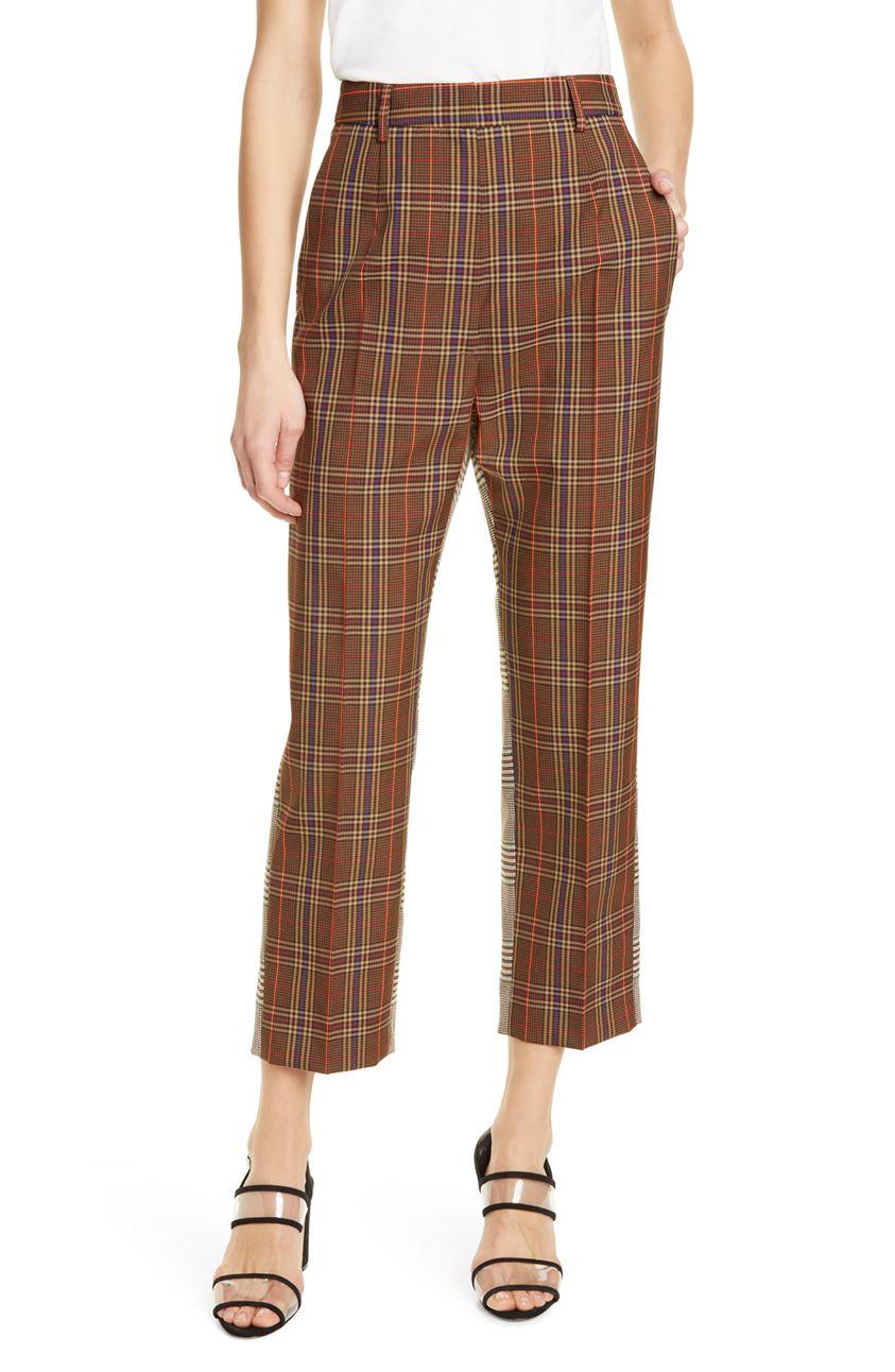 Mm6 Maison Margiela Mixed Check Trousers
