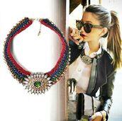 jewels,zara,necklace,shourouk,statement necklace,aliexpress