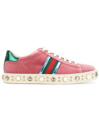 women sneakers leather velvet purple pink shoes