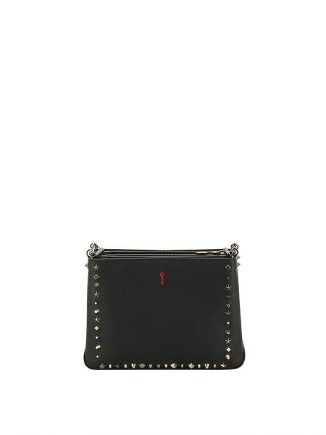 christian louboutin studded bag shoulder bag black