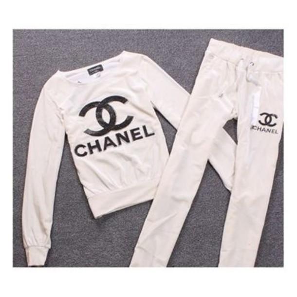 coat tracksuit chanel style jacket pants