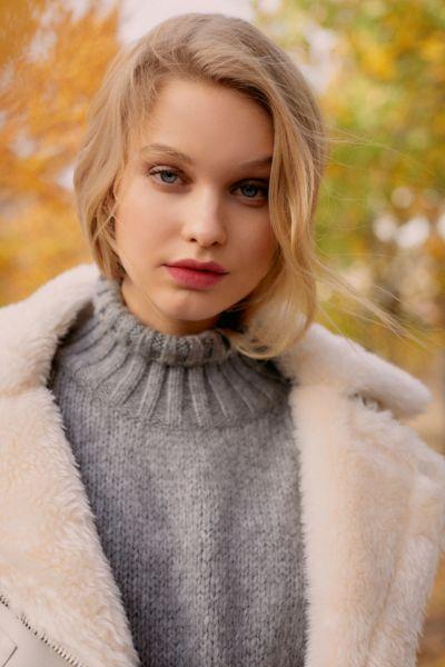 UO Gemma Cozy Turtleneck Cocoon Sweater