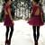 Dress, Bracelet - Robe pourpre - Petra Karlsson | LOOKBOOK