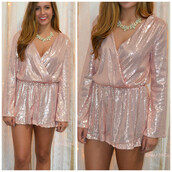 romper,sequins,sequin romper,long sleeves,amazinglace,amazinglace.com