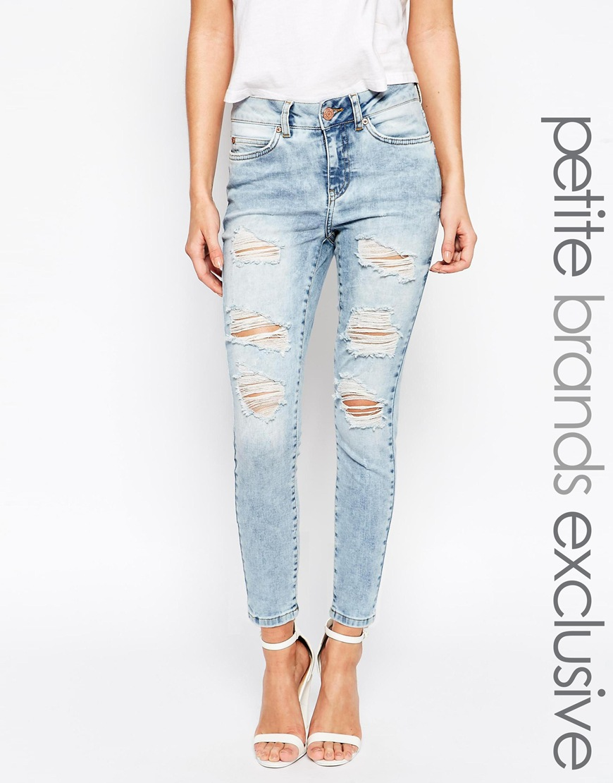 May Petite Distressed Lucy Jean at asos.com