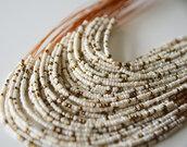 jewels,necklace,white,beaded,jewelry,multi row,white necklace,beaded necklace