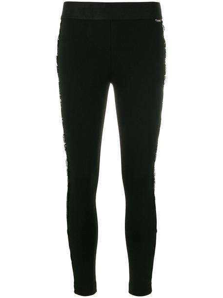 women spandex lace black pants