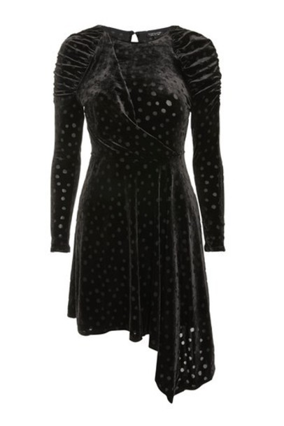 Topshop dress skater dress skater black velvet