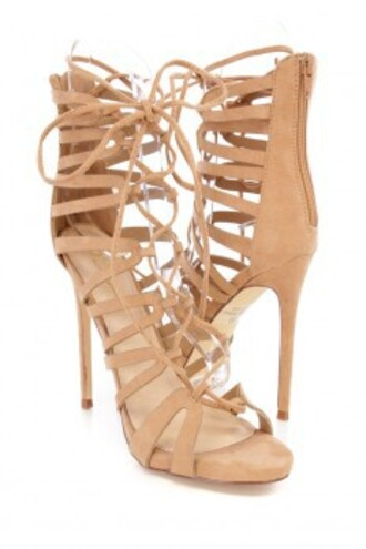 shoes high heel sandals sandals nude heels