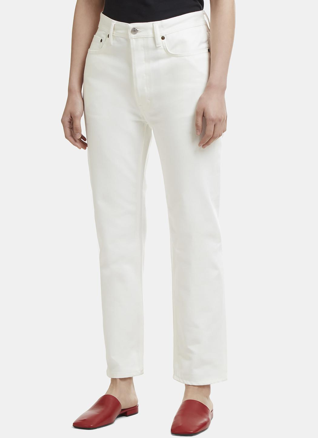 Acne - Straight Leg Jeans In White - Lyst