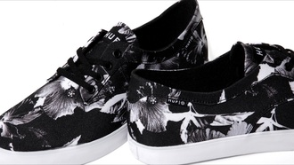 shoes huf flowers
