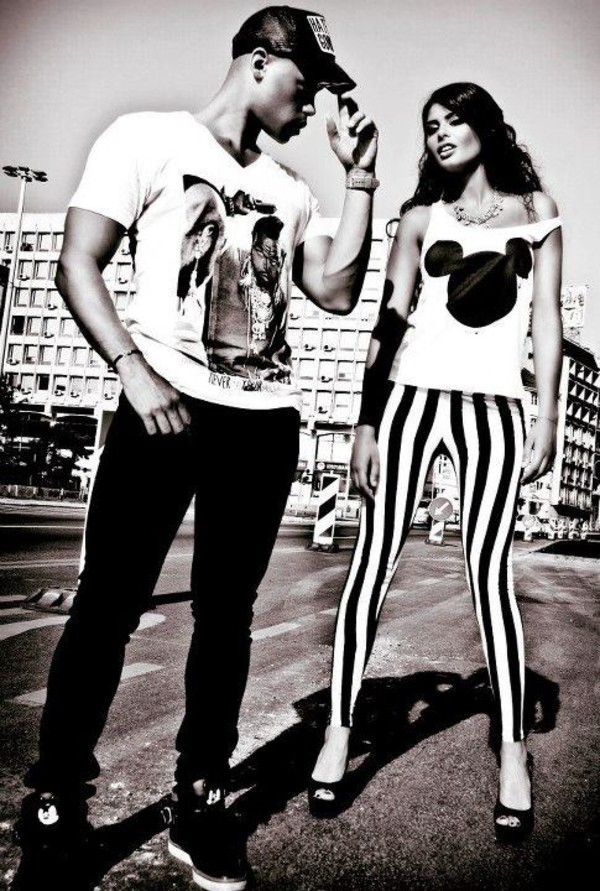 t-shirt t-shirt mister tee mrtee mister t mickey mouse disney rock couple leggings