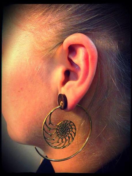 jewels earrings tunnel plug snake nice