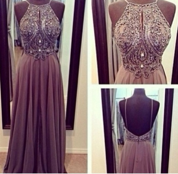 dress fashion beige sequins detail prom dress beige dress