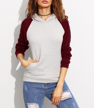 sweater girl girly girly wishlist grey burgundy hoodie