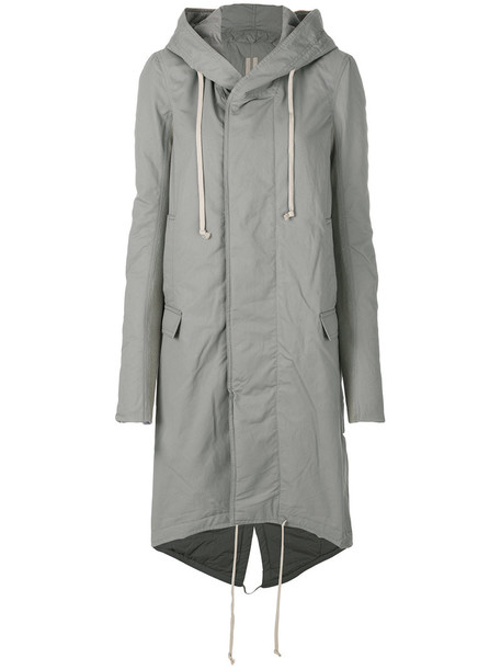 Rick Owens DRKSHDW coat women cotton grey